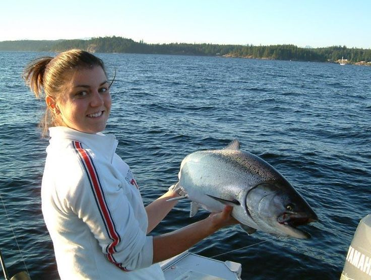 Girls love fishing too! Campbell River, Strathcona, Vancouver Island, BC