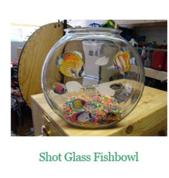 Put a shot glass inside a fish bowl & place it on your raffle table if their coin lands in the shot glass they win a raffle ticket!