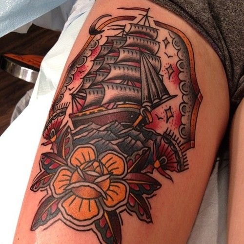 Can't wait for my next tattoo...two weeks and I'll get my own sailing ship...so excited