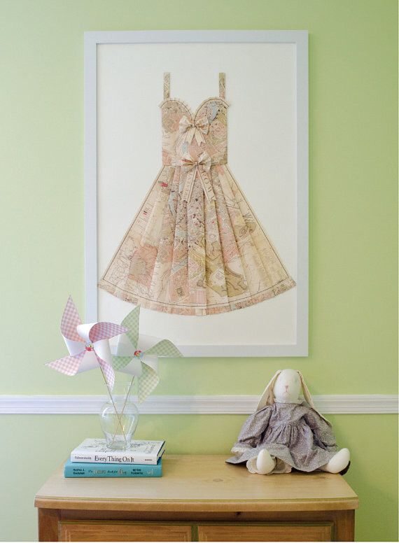 "LARGE Rome Hand Folded Map Dress - 24"" x 36"" - Light Pink, Beige - Nursery Wall Decor Art by ThePaperPromenade on Etsy https://www.etsy.com/listing/217596413/large-rome-hand-folded-map-dress-24-x-36"