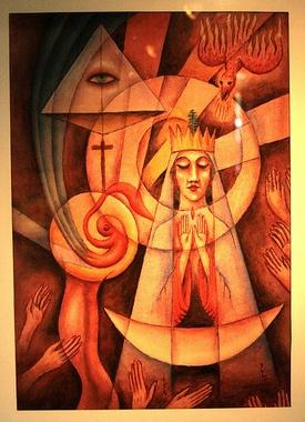 """""""Gestación de Jesús"""" by Xul Solar"""