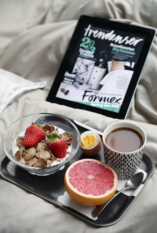Good Morning - why not start a lazy saturday with healthy eating?