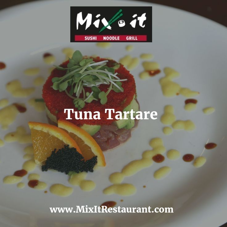 The plating on the #tuna #tartare is impressive. Fresh cubes of sushi grade tuna is layered with #tobiko, #mango juice and fresh #avocado. A really nice, light dish that is refreshing.  Get 10% Off #delivery orders with Promo Code: spring2017 Order Online @ www.mixitrestaurant.com
