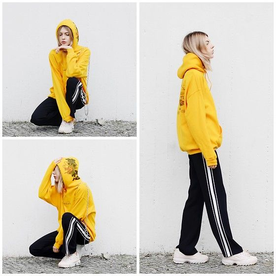 Get this look: http://lb.nu/look/8768885  More looks by Ebba Zingmark: http://lb.nu/ebbaz  Items in this look:  Dream But Do Not Sleep Hoodie, Na Kd Pants, Fila Sneakers, Ebba Zingmark Blog   #casual #sporty #street