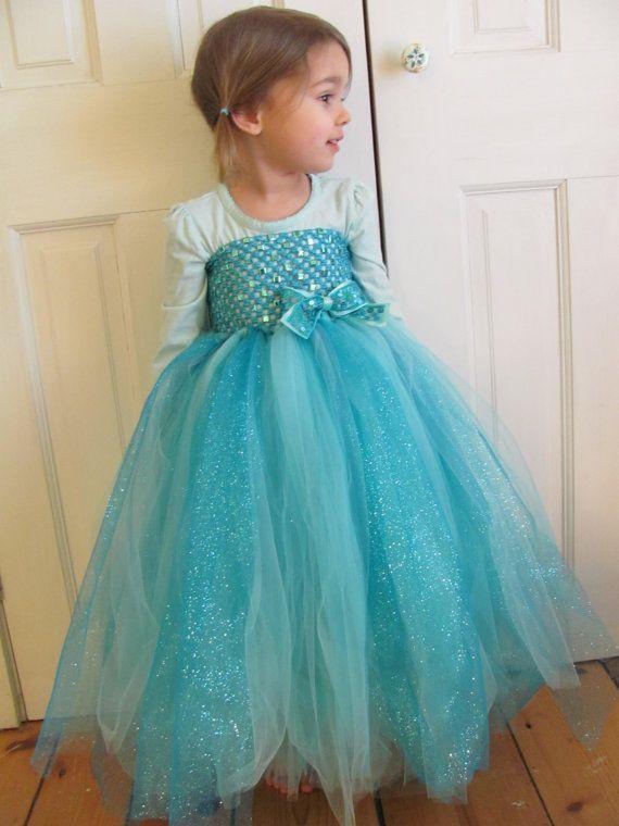 Frozen Elsa Tutu Dress with Matching Dress by MissHubbardsCupboard children's bridesmaid dress