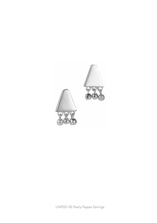 Lucy Folk presents APPETEASER - NH: Autumn/Winter 2014 / SH: Spring/Summer 2014 - PEARLY PEPPER EARRINGS