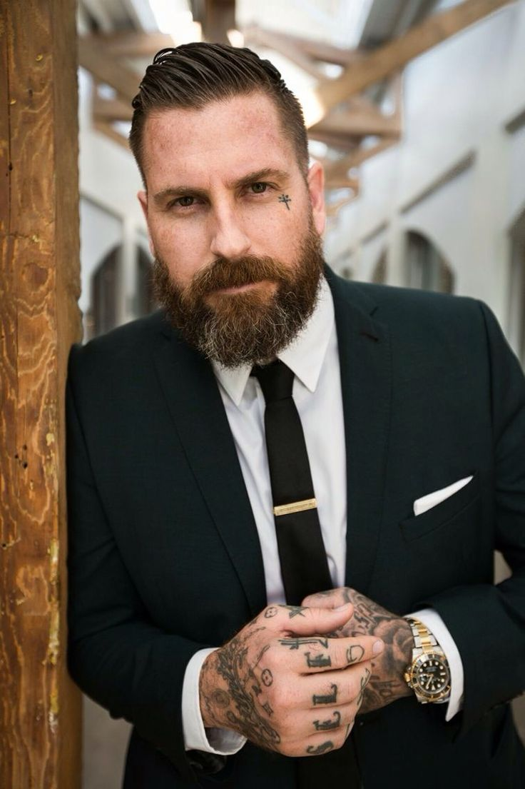Beards suits tattoos