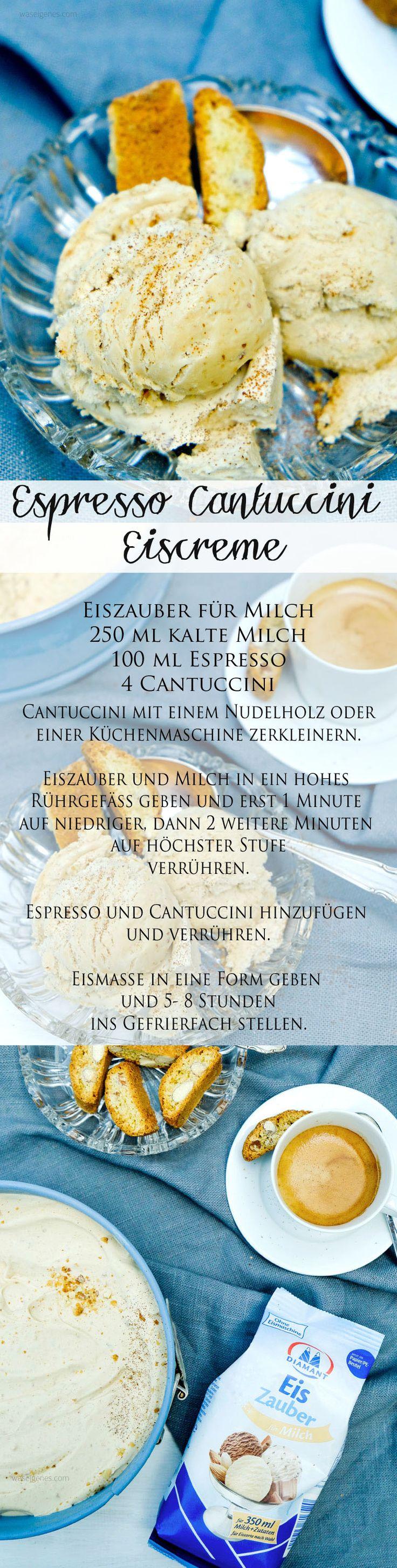 rezept selbstgemachtes espresso cantuccini eis ohne eismaschine eis eis baby. Black Bedroom Furniture Sets. Home Design Ideas