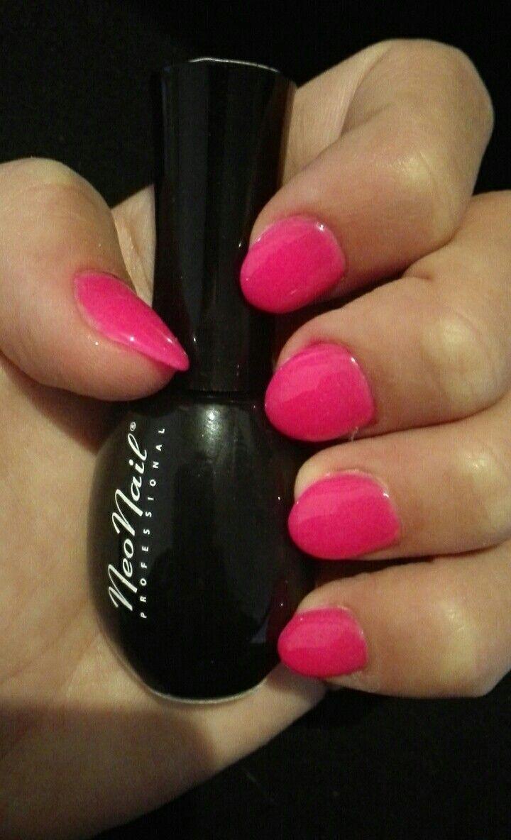 NeoNail 3220, Neon pink nails, paznokcie oczojebki <3, różowe, neonowe, hybrydowe