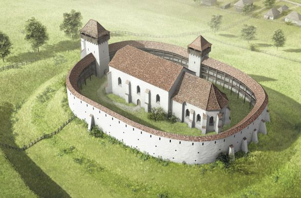 Reconstruction of the Abtsdorf Church by Joe Rohrer