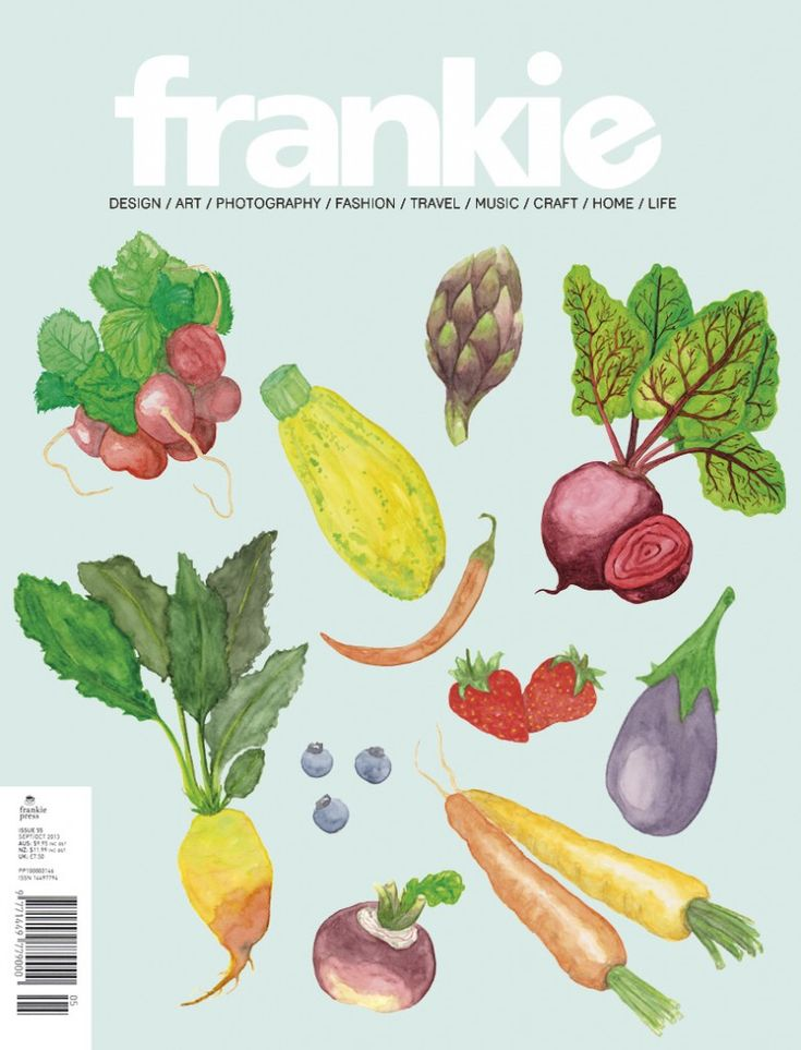 A cover mock-up I did as part of a school assignment. All illustrations by Eline Van der Gucht // plutomeisje.be - first published as Workspace Wednesday - Frankie Magazine Cover
