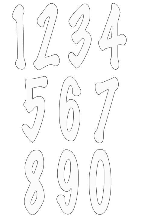 25 best ideas about Number Stencils – Numbers Templates Free