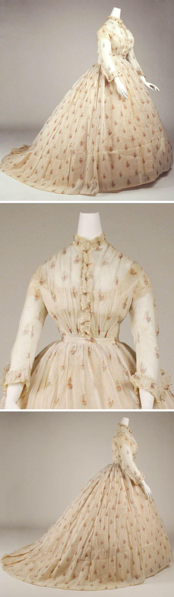 Dress, American, ca. 1865. Silk. Metropolitan Museum of Art