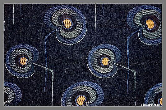 Textile Sample  Designer Unknown   Date: ca. 1900 Medium: Silk Classification: Textiles-Woven