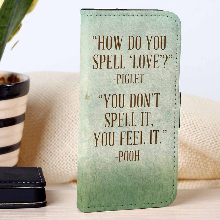 Winnie The Pooh Piglet Quotes | Disney | Movie | custom wallet case for iphone 4/4s 5 5s 5c 6 6plus case and samsung galaxy s3 s4 s5 s6 case - RSBLVD