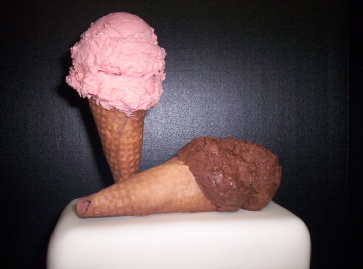 pussy made out of ice cream