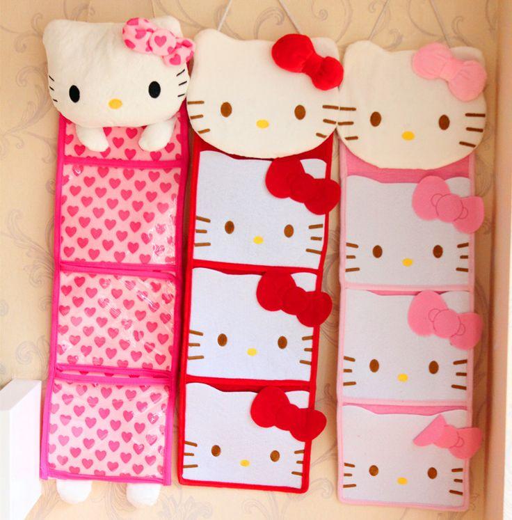 Hello Kitty Wall Hanging Organizer //Price: $28.99 & FREE Shipping // World of Hello Kitty http://worldofhellokitty.com/3-pockets-kawaii-pinkred-bow-hello-kitty-plush-long-slung-storage-bag-for-wall-hanging-storage-pouch-bags-makeup-organizer-case/    #toys