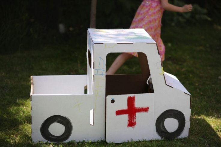 Biały Samochód do pomalowania, Trzy Myszy - PLN Design