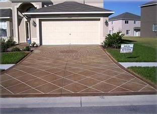 Stained Driveway Concrete Driveways Ideal Concrete Designs Weeki Wachee, ...