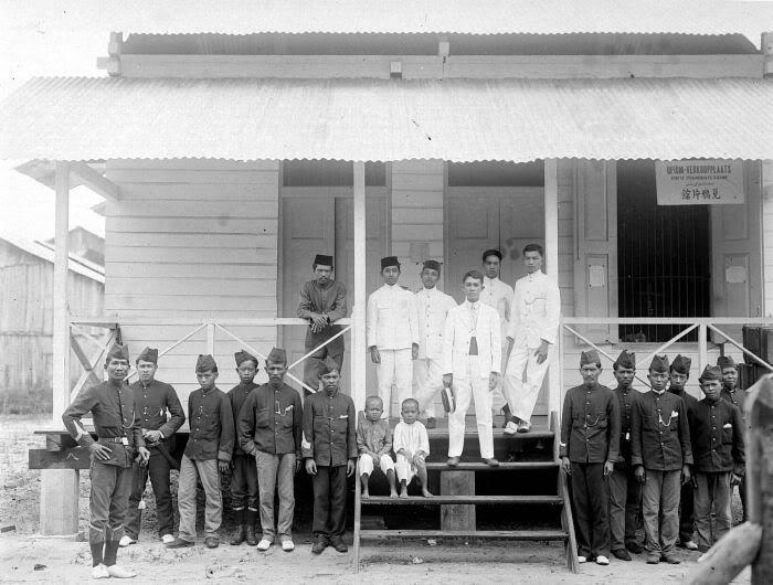 dutch indies police station in north sumatra region, 1910.