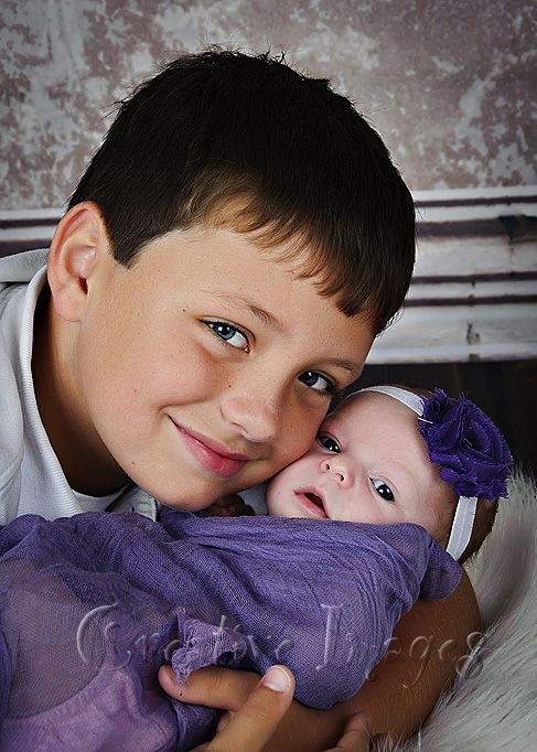 Newborn girl with big brother ~ Creative Images Photography ~ Meridian, MS