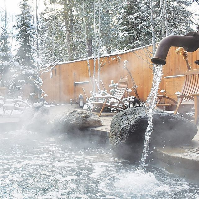 Soak up the #winter in true #ShoreLodge fashion at The Cove's magnificent #immersionpools. #TheCove #McCallIdaho