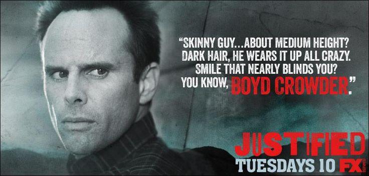 """Boyd Crowder (Walton Goggins) - """"Justified"""""""