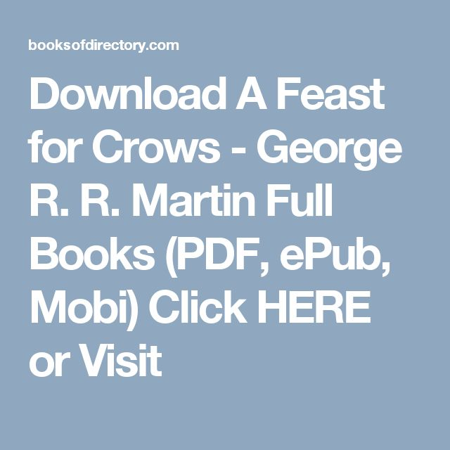 Download A Feast for Crows George R R Martin Full
