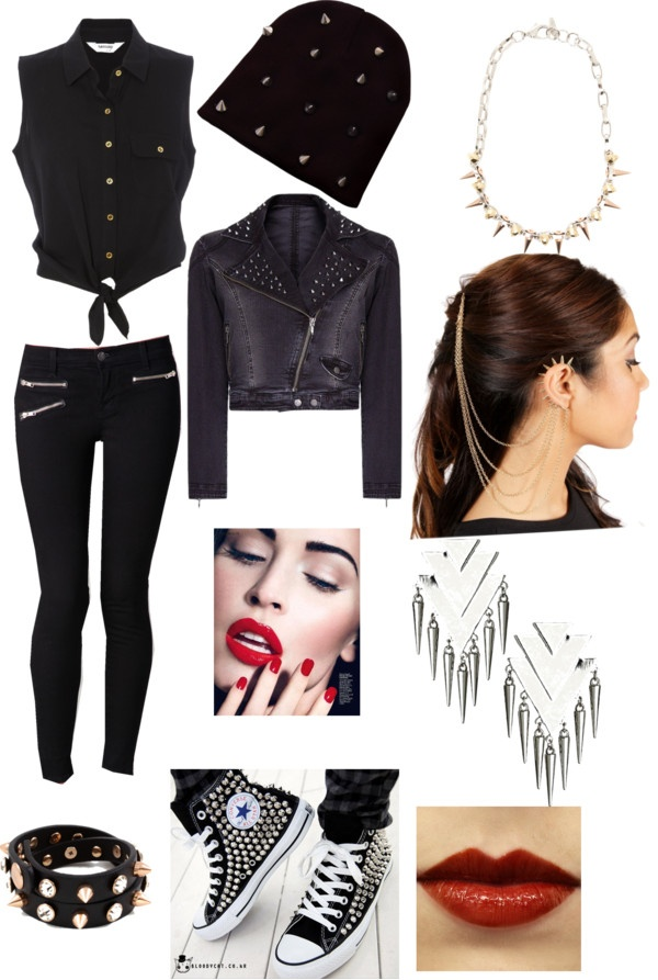 """dark outfit"" by shamerebillups ❤ liked on Polyvore"