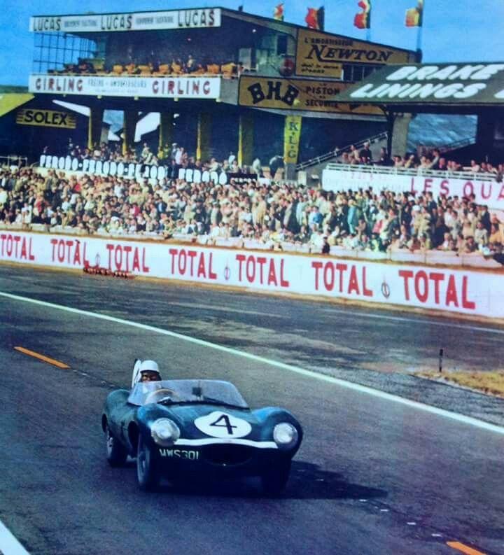 1956 24 Hours Le Mans : Ron Flockhart, Jaguar D-type #4 (#XKD501), Ecurie Ecosse, Winner. (with Sanderson) 13.461 kms x 300 laps, D: 4034.929 kms, Av-Speed: 168.122 kmh. (ph: primotipo.com)