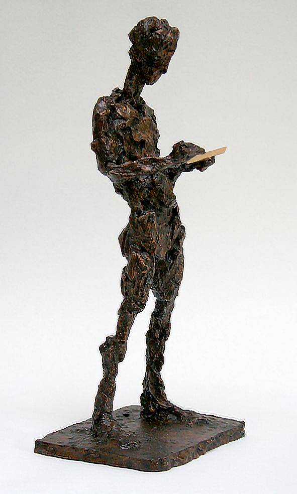 Texter 01: jesmonite cast of clay sculpture. 33cm high.