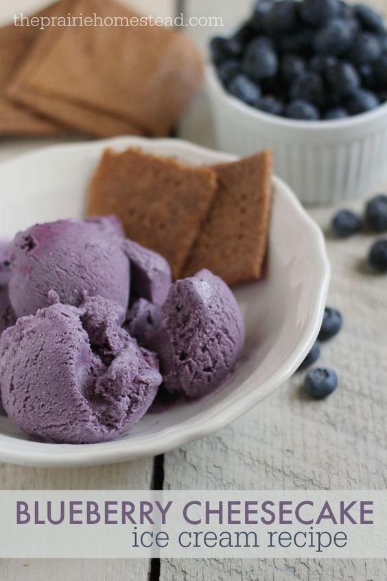 ... Cream on Pinterest | Homemade ice cream, Ice and Blueberry cheesecake