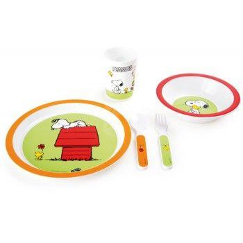 Ensemble vaisselle enfant Peanuts SNOOPY   #cadeau #cadeaux #gift  #gifts #ideecadeau #petitsprix #pascher #anniversaire #fete #party #budget #noel