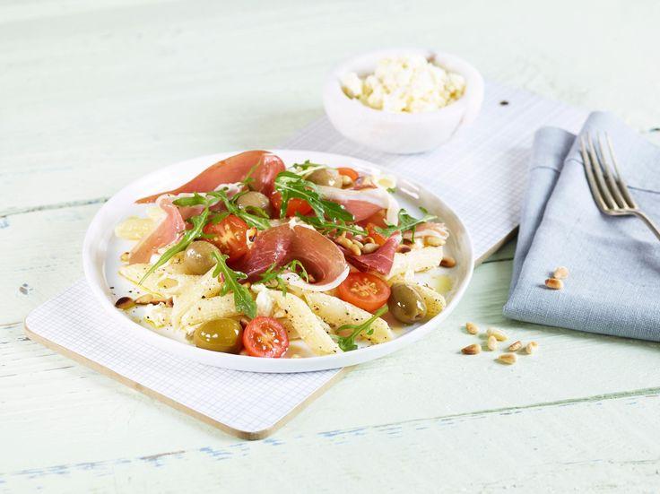 Oppskrift på Pasta med spekeskinke og fetaost, foto: