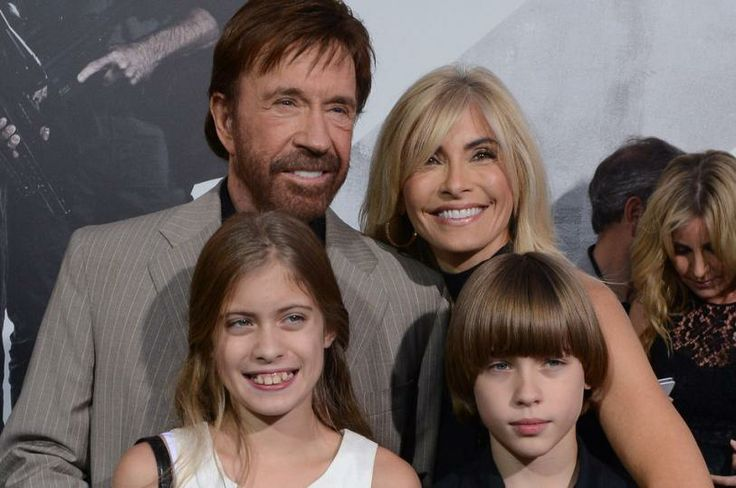 """Chuck Norris celebrates 74th birthday - UPI.com.  Chuck Norris, a cast member in the action adventure motion picture """"The Expendables 2"""", attends the premiere of the film with his wife Gena O'Kelly and their daughter Danilee (L) and Dakota (R) at Grauman's Chinese Theatre in the Hollywood section of Los Angeles on August 15, 2012. UPI/Jim Ruymen  Read more: http://www.upi.com/Entertainment_News/2014/03/11/Chuck-Norris-turns-74-continues-to-be-a-badass/5761394540232/#ixzz2vfWAVze6"""