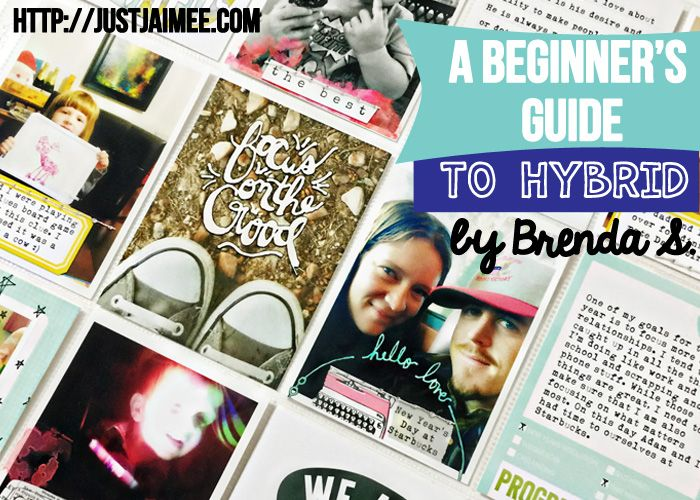 A Beginner's Guide to Hybrid Pocket Pages- A tutorial for Just Jaimee by Brenda Smith