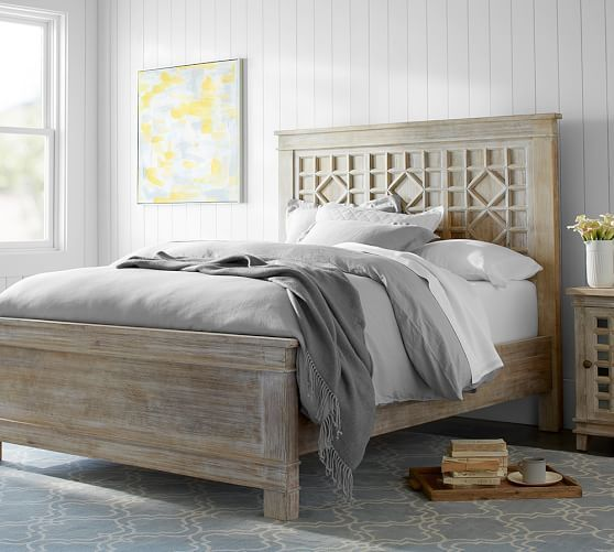 create a stylish retreat with wood or upholstered beds and headboards pottery barns bed frames are expertly crafted and built to last