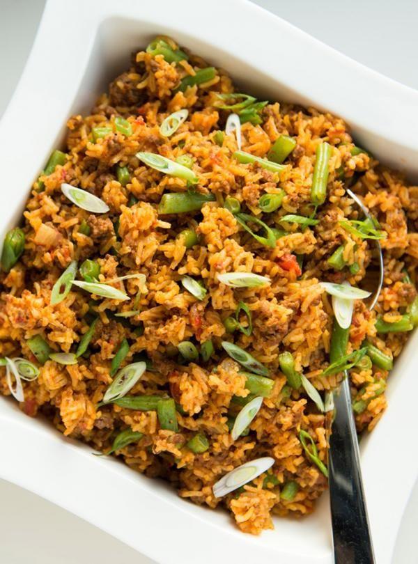 Recette de Ricardo de casserole de riz au boeuf et aux tomates