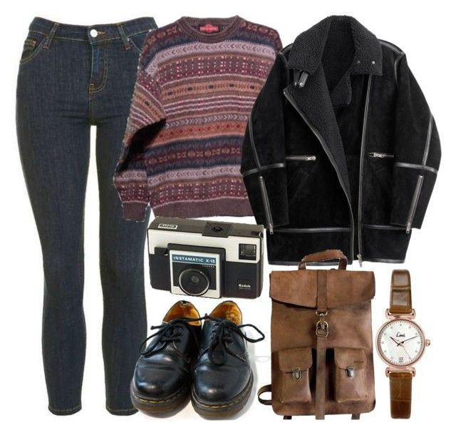 """""""Untitled #5663"""" by rachellouisewilliamson on Polyvore featuring Topshop, H&M, Dr. Martens and Kjøre Project"""