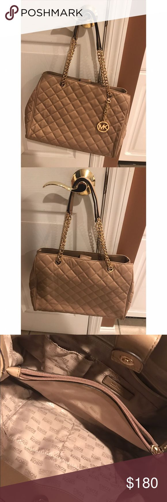 ❤MICHAEL KORS SUSANNAH TOTE❤USED 1X!!!!🔥 Basically BRAND NEW without tags attached Michael Kors Susannah tote/shoulder bag in dark khaki! Such a beautiful bag!😍😍I fell in love with it when I bought it but, unfortunately, I don't use it like I thought I would 🤦🏻‍♀️ (only used it once!!!) so I want someone else to be able to enjoy it instead!! Barely any wear and tear💁🏻🎉🤑 Michael Kors Bags Shoulder Bags