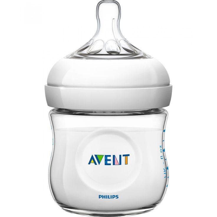 Biberón Avent Natural Bottle de 125 ml; con tetina ancha en forma de pecho exclusivos y cómodos pétalos para una suavidad extra y una tetina flexible; fácil de usar y lavar de ensamblaje rápido y sencillo.<br>Libre de BPA.