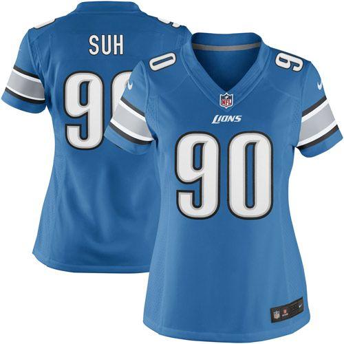 Nike Ndamukong Suh Detroit Lions Women's Limited Jersey – Light Blue