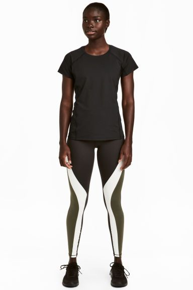 Sports tights Shaping Waist - Dark green - Ladies | H&M GB 1