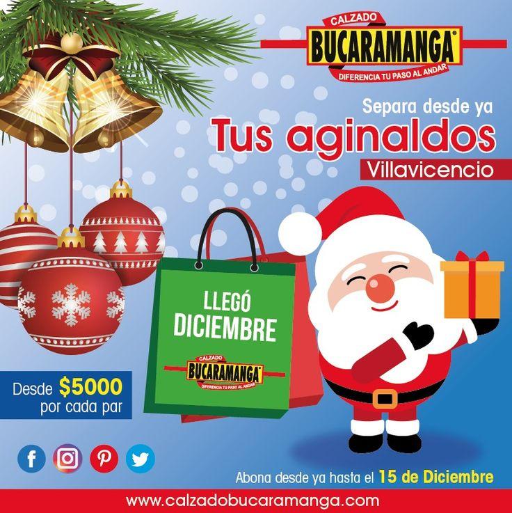 #Villavicencio sin excusas para esta #Navidad, desde ya puedes apartar tu #aguinaldo.  Con Calzado Bucaramanga #regala algo que diferencie su paso al andar y te recordarán por siempre.  www.calzadobucaramanga.com webmaster@calzadobucaramanga.com