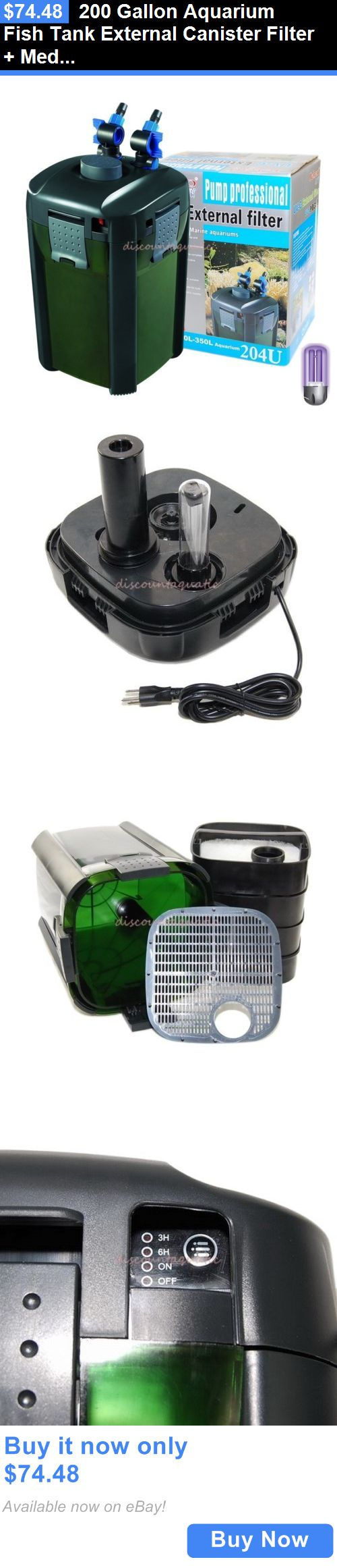 Boyu aquarium fish tank external filter canister - Animals Fish And Aquariums 200 Gallon Aquarium Fish Tank External Canister Filter Media Kits Self Priming Buy It Now Only 74 48 Pinterest Aquarium