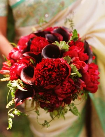 The Red Wedding Flower Arrangement