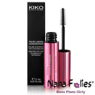 Offre spéciale ici : Volume et Définition Top Coat Mascara noir de Kiko - 3.60€  #kiko #mascara #cils #volumecils #volume