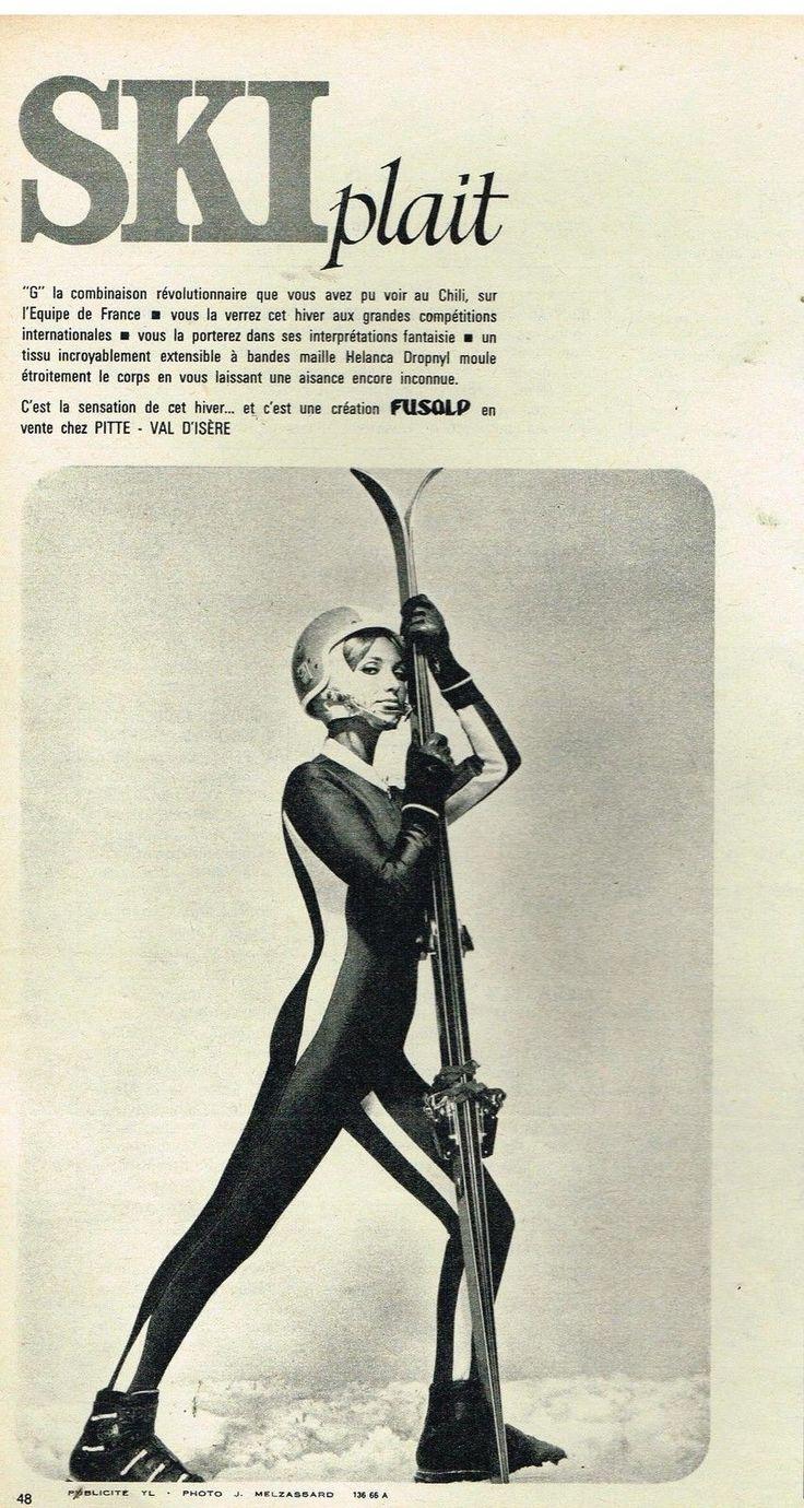 Publicité Advertising 1966 Les Vetements de ski Fusalp