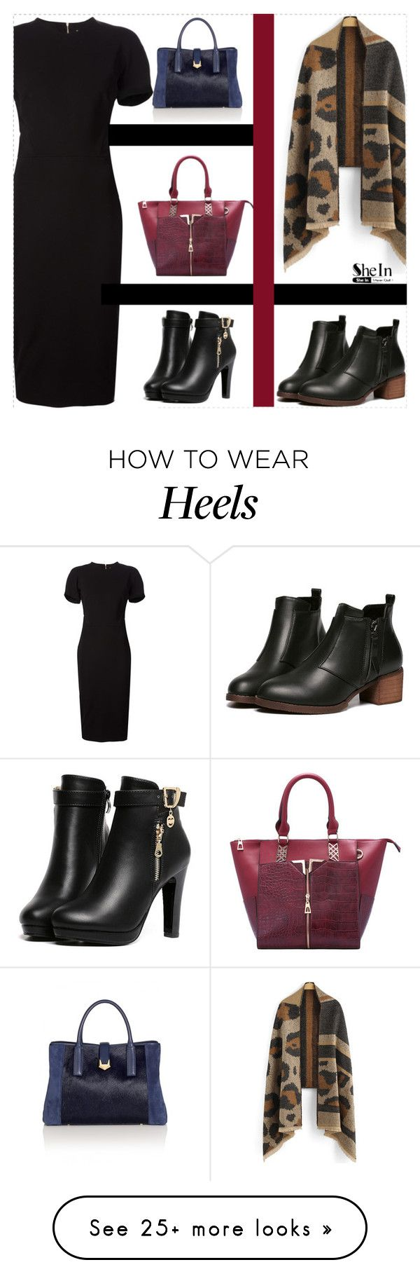 """Red Black"" by sheinside on Polyvore featuring Victoria Beckham"
