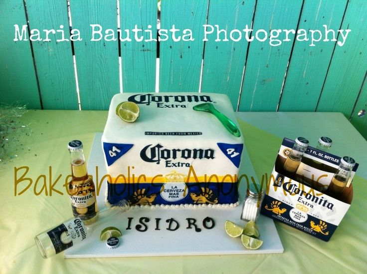 beer Birthday Cakes for Men | corona beer cake hi guys i made this cake for a corona beer lover he ...